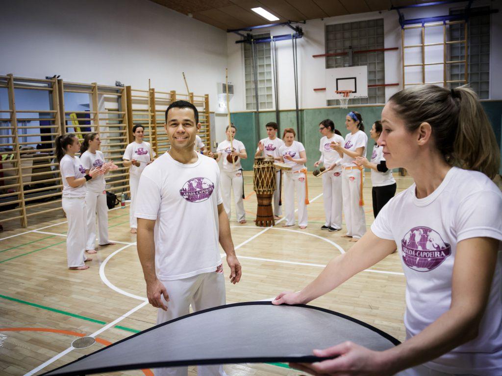 Marian Wilhelm für die Capoeira-Schule der Sportunion Salzburg